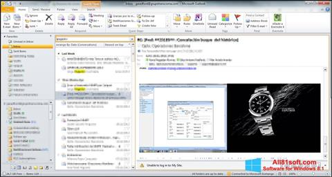 Screenshot Microsoft Outlook Windows 8.1