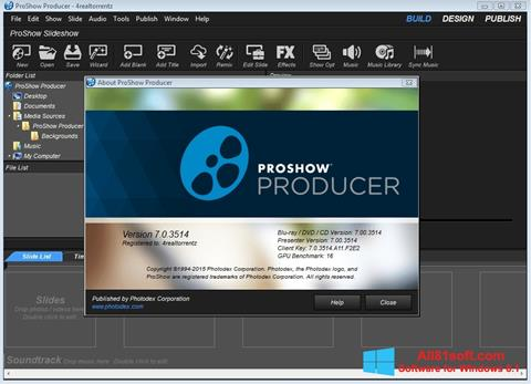 Screenshot ProShow Producer Windows 8.1