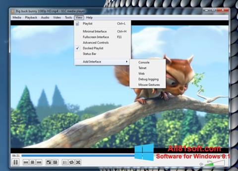 Screenshot VLC Media Player Windows 8.1