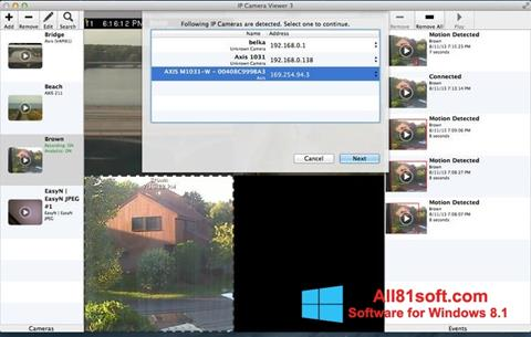 Screenshot IP Camera Viewer Windows 8.1