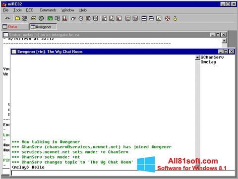 Screenshot mIRC Windows 8.1